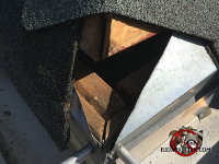Gaps in the flashing and shingles allowed bats to get into a house in Birmingham Alabama
