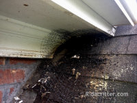 Poorly-done do-it-yourself bat removal job in Birmingham, Alabama