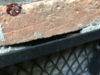 Mortar is missing at the top of a foundation vent on a house in Chattanooga and mice got into the house through the gap