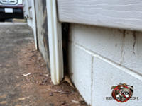 Gap of more than an inch between a door frame and the block foundation must be sealed to keep mice out of a building in Macon Georgia.