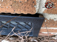 Irregular gaps around the foundation vent allowed mice to get into a brick house in Americus Georgia
