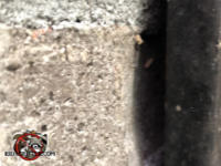 Gap between a brick and a vertical piece of trim needs to be sealed to keep mice out of a house in Hoover Alabama.