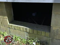 Two foot by four foot opening into the crawl space of a house in Macon Georgia needs a new door to keep raccoons out of the house.
