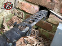 Gap around pipes where they pass through a baseball sized hole in the brick wall allowed rats to get into a Valdosta Georgia home.