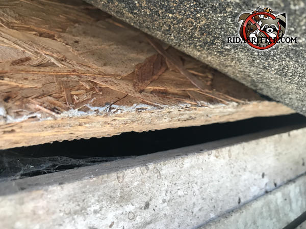 Gap of about five eighths of an inch between the fascia and the roof sheathing at a house in Tucker Georgia
