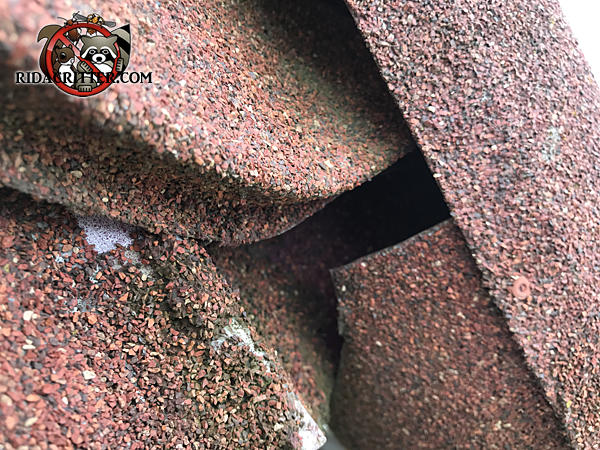 A gap of about three quarters of an inch between the shingles allowed bats into the attic