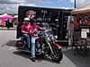 Man and woman on a motorcycle at the 2013 Bikers for Boobs event in Villa Rica