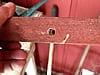 Carpenter bee hole in a railing