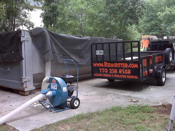 attic insulation removal machine