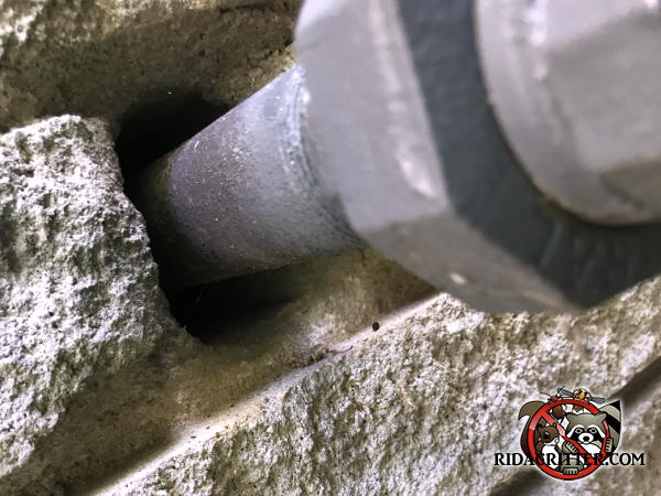 Quarter inch gap around a gas pipe where it passes through the brick wall that allowed mice into a house in Chattanooga