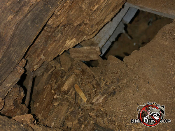 Inside of a rotten chimney had gaps through which rats got into a house in Atlanta