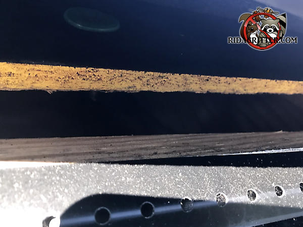 One inch gap in the edge of the roof of a house in Atlanta that allowed tree rats to get into the attic