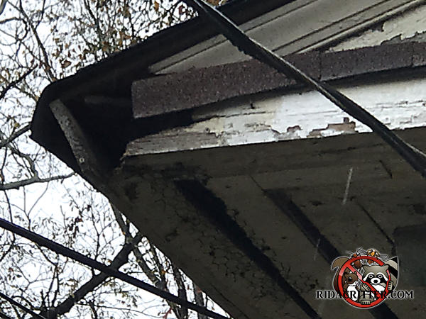 Squirrels apparently got into a house in Atlanta through gaps in the poorly maintained wood soffit